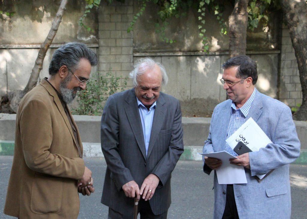 علی دهباشی به همراه دکتر حسن انوری و دکتر بهرام پروین گنابادی