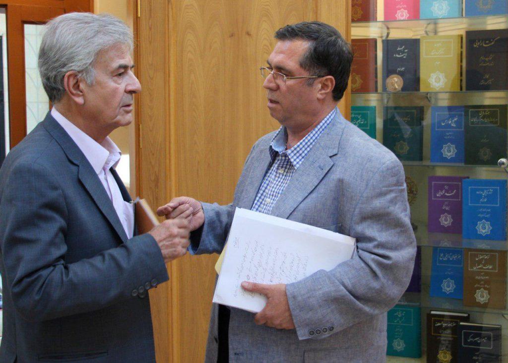 علی دهباشی به همراه دکتر اصغر دادبه