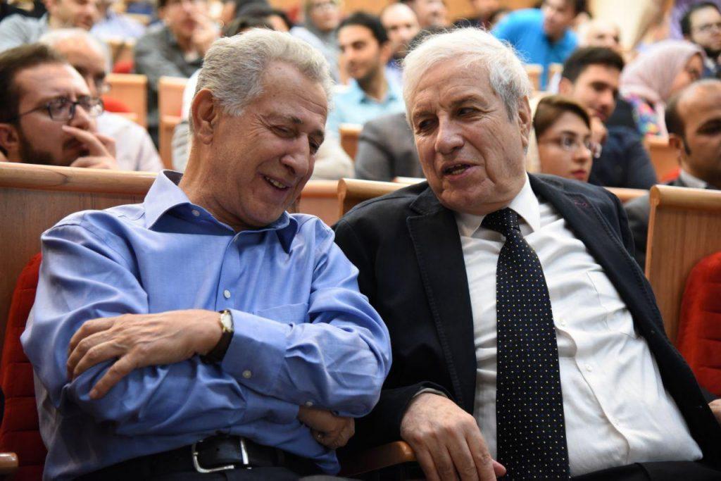 دکتر ایرج پارسی نژاد و سیروس علی نژاد در مجلس یادبود دکتر نادرزاد