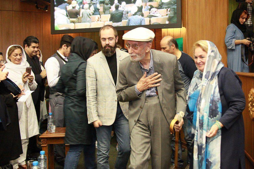 خانم اسین چلبی به همراه دکتر محمد علی موحد