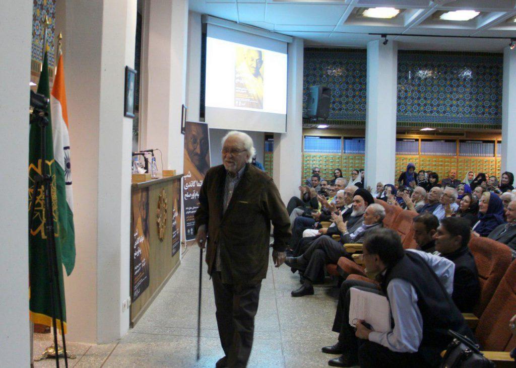 دکتر داریوش شایگان از سخنرانان شب مهاتما گاندی