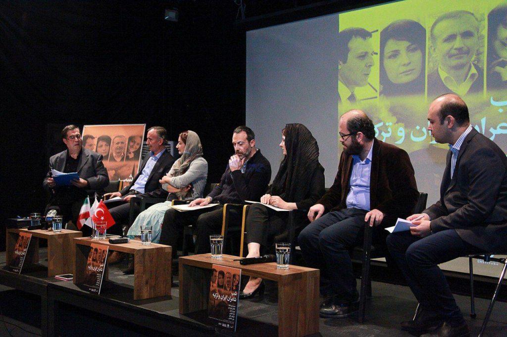 علی دهباشی هر یک از شاعران حاضر را به اختضار معرفی کرد