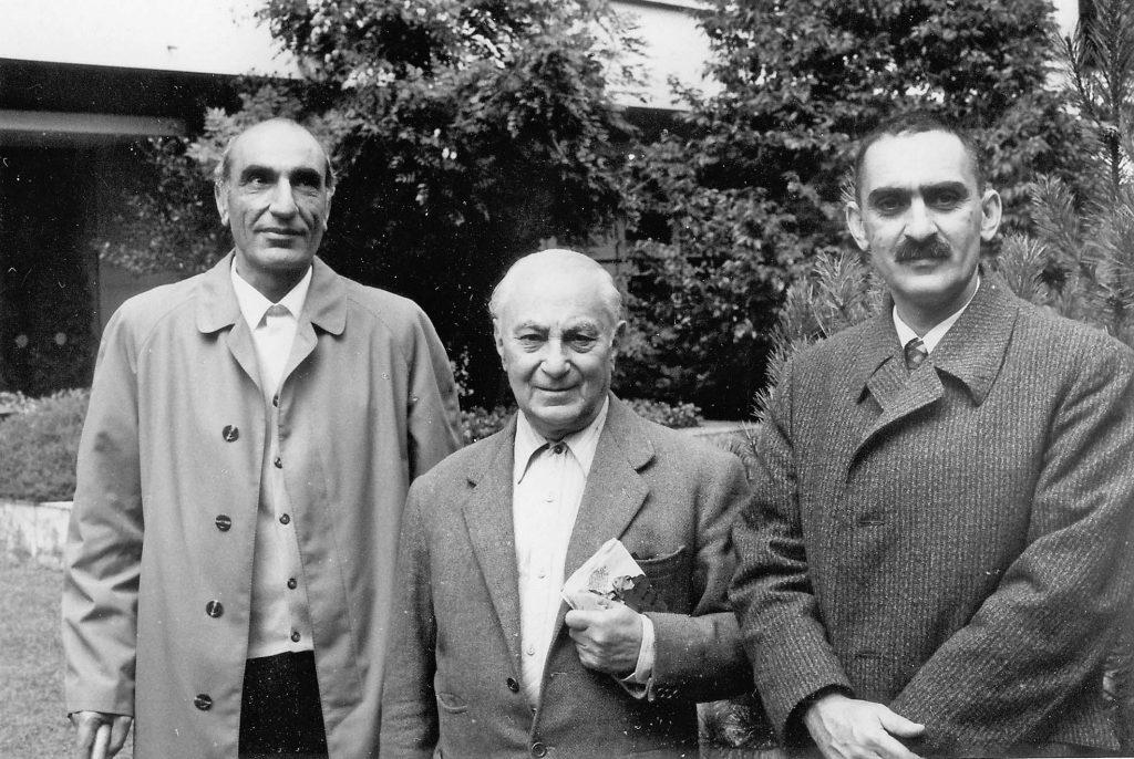 ایرج افشار، محمدعلی جمالزاده و دکتر محمدابراهیم باستانی پاریزی