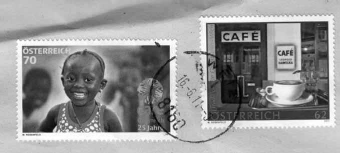 تمبر مخصوص قهو هخانه هاولکا، پست اتریش.