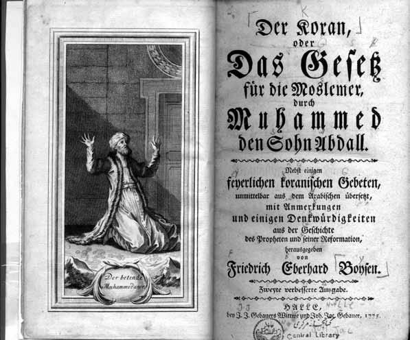 ترجمه آلمانی قرآن کریم، چاپ 1775 م، از مجموعه سعید نفیسی