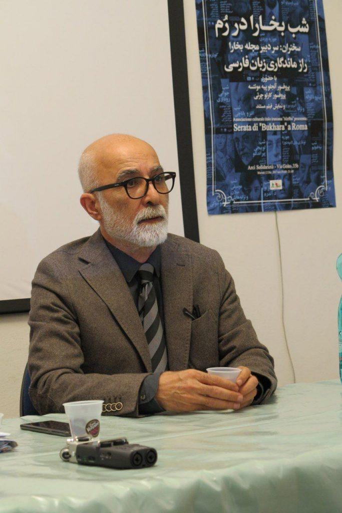 ابتدا دکتر ابوالحسن حاتمی دبیر انجمن فرهنگی ایرانی و ایتالیایی الفبا گزارشی از فعالیتهای نه ساله انجمن ارایه کرد و به حضار خیرمقدم گفت .