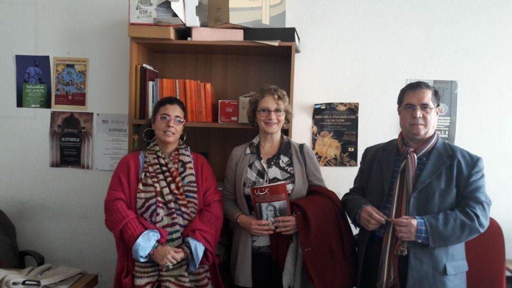 با دکتر پائو لا اورساتی و تیتزیانا چرتی در دانشکده ادبیات و فلسفه دانشگاه ساپینزا.