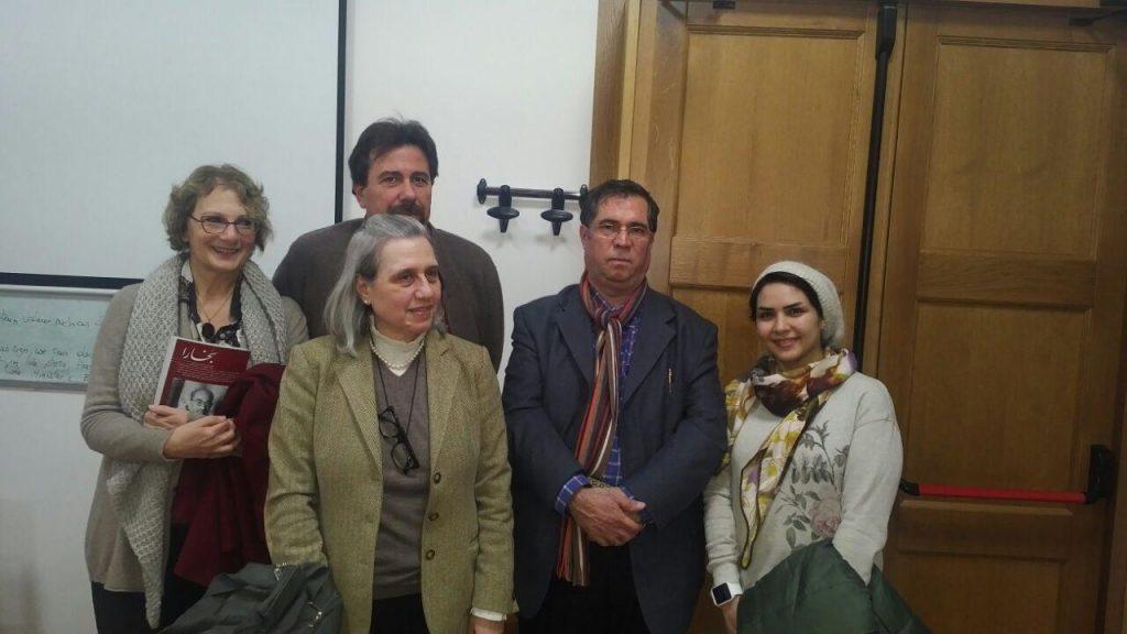 با دکتر پائو لا اورساتی . دکتر ویتوریا فونتانا و پروفسور چرتی و.....بعد از جلسه پرسش و پاسخ.