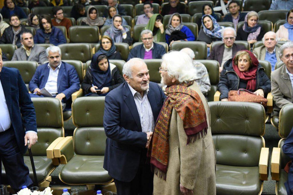دکتر داریوش شایگان و دکتر کاظم موسوی بجنوردی