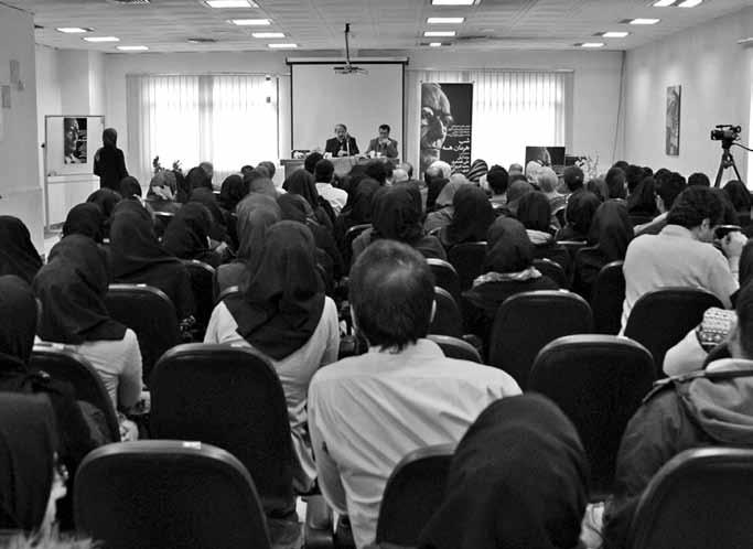 صحن های از مراسم شب هرمان هسه در تالار دانشکده زبا نهای خارجی دانشگاه آزاد اسلامی.