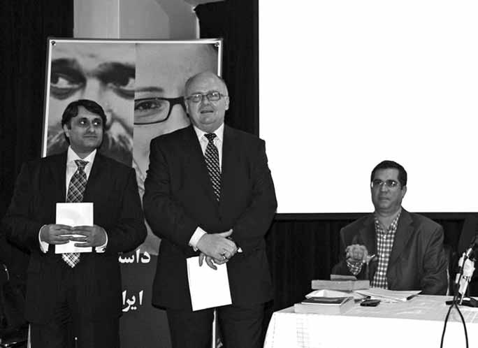 دکتر توماس بوکسباوم، سفیر اتریش، به معرفی وجوه مشترک دو نویسنده ایرانی و اتریشی پرداخت.