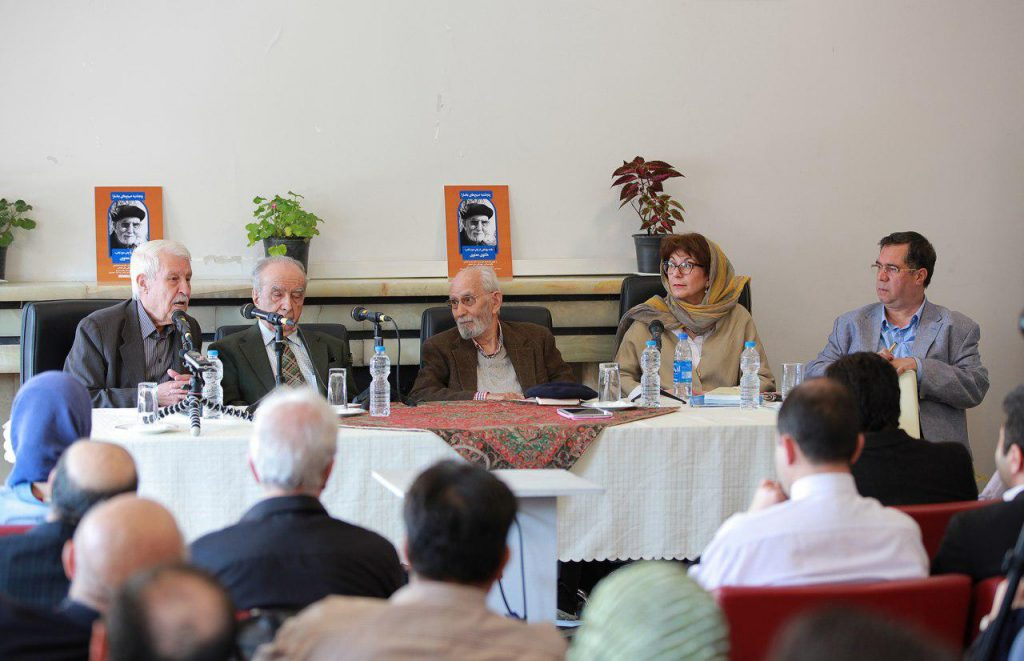 علی دهباشی، مریم مافی، استاد محمدعلی موحد، دکتر محمد استعلامی و دکتر توفیق سبحانی
