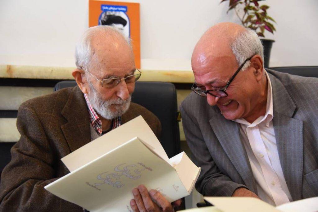 محمود آموزگار در کنار استاد محمدعلی موحد