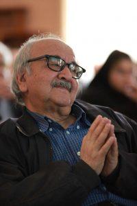 استاد محمدرضا شفیعی کدکنی در جلسه دیدار و گفتگو با پری آزرم معتمدی