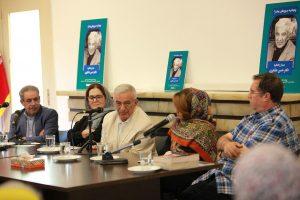 از چپ به راست:دکتر محمد حسین عزیری،دکتر شیوا دولت آبادی،دکتر حسن عشایری، شکیبا عابدزاده و علی دهباشی