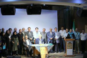 عکس یادگاری دوستان و همکاران و دانشجویان دکتر خطیب شهیدی