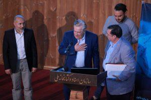 دکتر محمد منصور نژاد و علی اصغر لطیفی که مورد تجلیل قرار گرفتند.