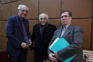 علی دهباشی، دکتر محمد سریر و میلاد کیایی در شب شیون فومنی