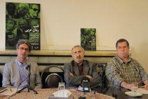 علی دهباشی، محمد جواهرکلام و عظیم طهماسبی در شب رمان عربی