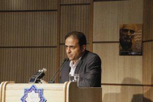 دکتر علی اکبر جعفری ندوشن متن پیام دکتر شیرین بیانی (همسر دکتر اسلامی ندوشن ) را قرائت کرد.