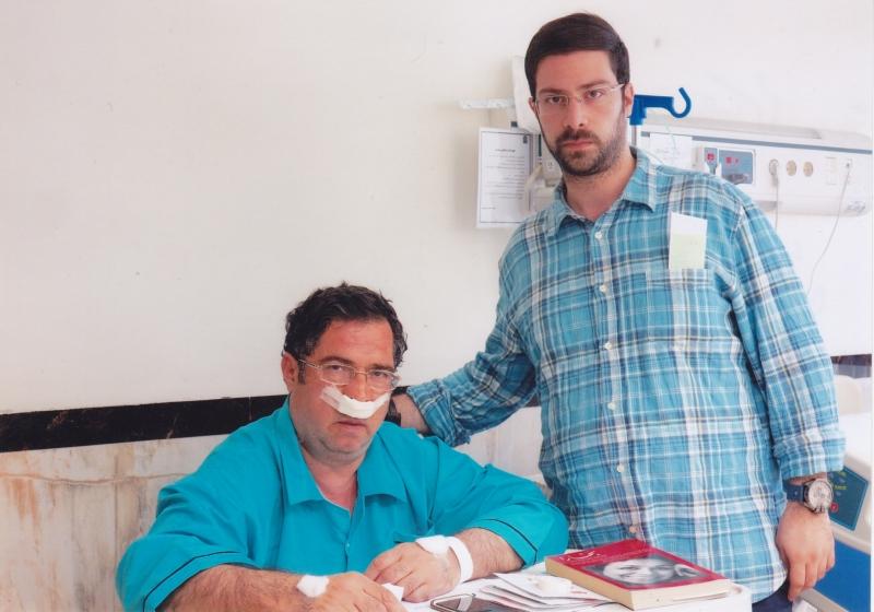 با شهاب دهباشی ـ مهر 94 در بیمارستان مدائن