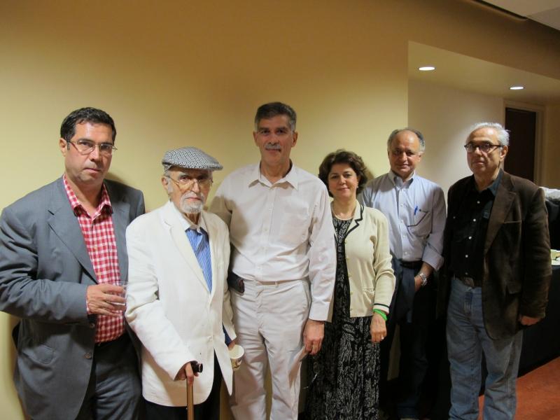 مراسم بیست سالگی مجله بخارا در دانشگاه UCLA همراه با محمود عنایت ، حسین ضیائی و علی اکبر مهدی