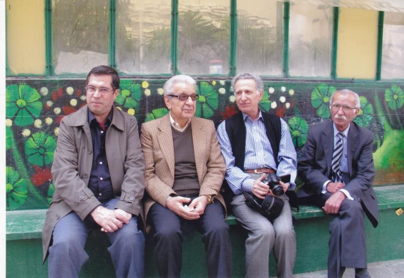 فیروزگوران( سردبیر جامعه سالم) ـ سیروس علی نژاد، عزت الله فولادوند و علی دهباشی