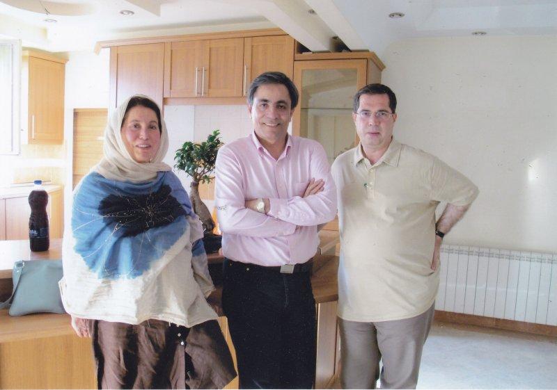 علی دهباشی ـ ناصر موسوی و خانم موسوی