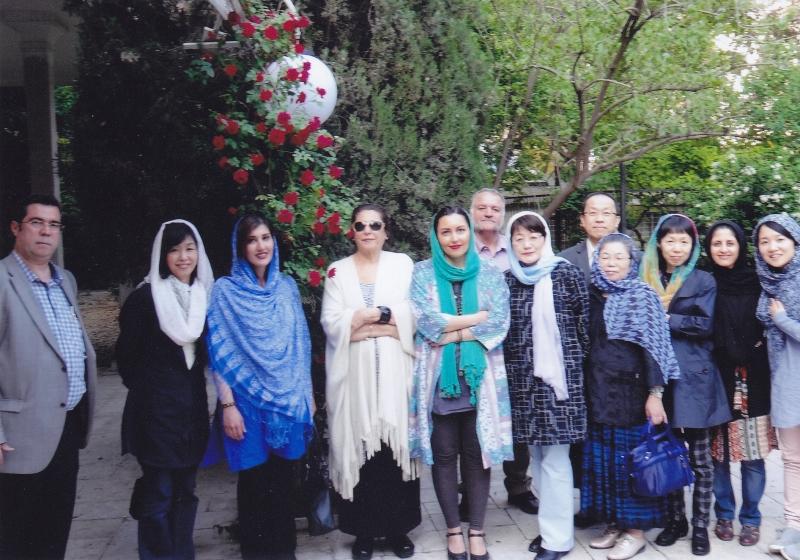 با پری زنگنه و دوستداران ژاپنی و ایرانی ـ اردیهبشت 1393