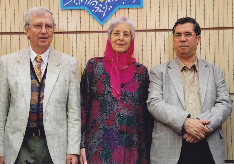 با پروفسور هاید ماری کخ و همسرش 8 خرداد 1393