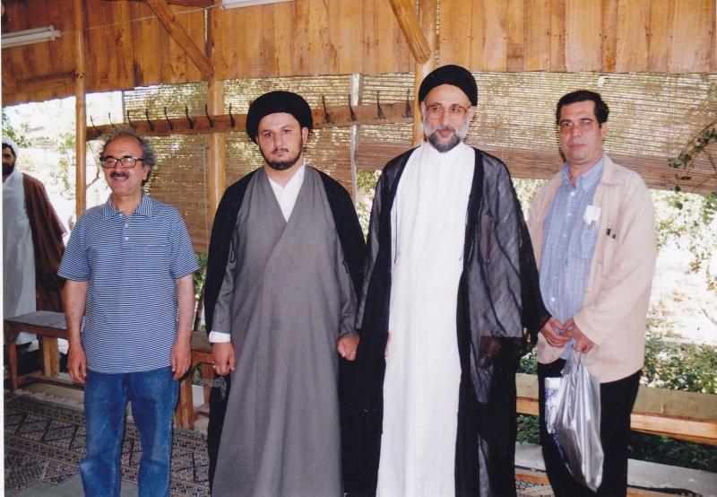 قم دوشنبه 27 مرداد 82 ـ علی دهباشی، سید حسین مدرسی طباطبائی ، علی طباطبائی و دکتر شفیعی کدکنی