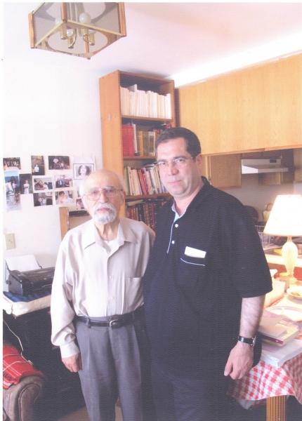 با دکتر محمود عنایت مدیر مجله نگین در کالیفرنیا2010