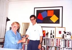 با پیر آرنولدی گرافیست دانمارکی ـ کپنهاک اول تیر 1370 ( 22 ژوئن 1991)