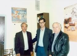 تاجیکستان ـ شهر دوشنبه ـ آبان 1370 در کتابخانه فردوسی ـ کمال الدین عینی ، علی دهباشی و حسن لی