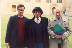 دانشگاه آکسفورد ـ آذر 1371 ـ نوامبر 1992 ـ جان گرنی، یدالله رویایی و علی دهباشی ( عکس از رضا شیخ الاسلامی)