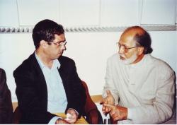 با دکتر سید حسین نصر در یونسکو ( شهریور 1378)