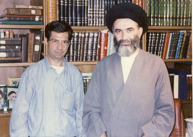 با دکتر سید محمود مرعشی نجفی درقم ـ اواخر دهه1370