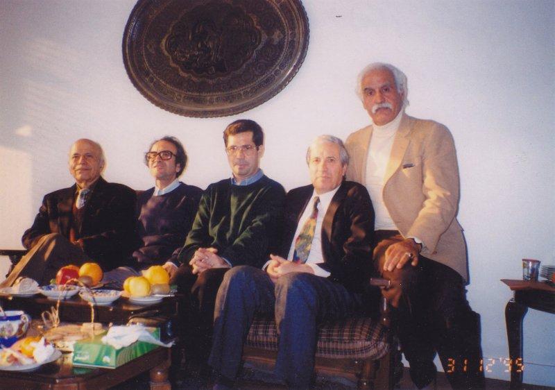 علی بوستان، ایرج پارسی نژاد، علی دهباشی، شفیعی کدکنی و علی فاضلی ـ دهه 1380
