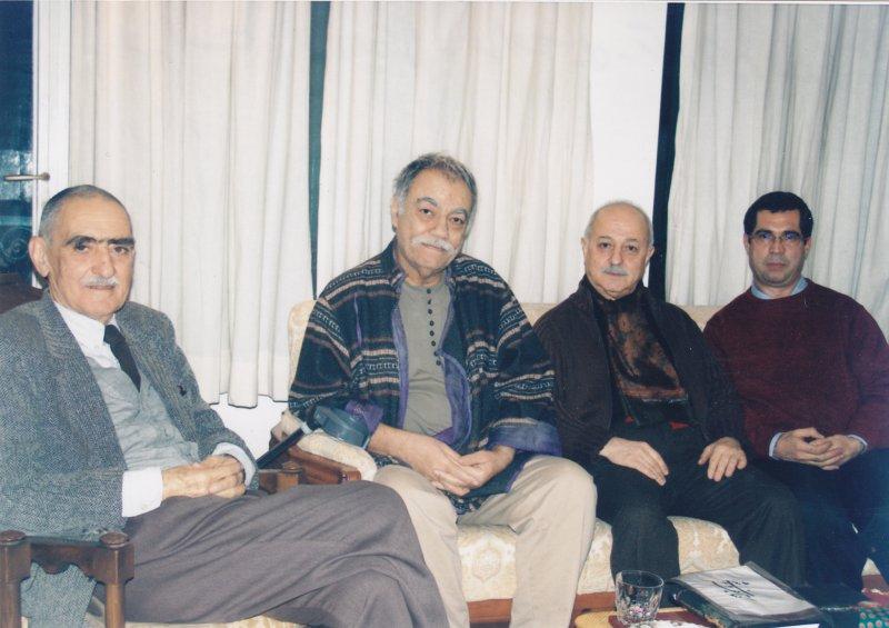 از راست : علی دهباشی، محمد احصایی، مرتضی ممیز و ایرج افشار 22/10/83