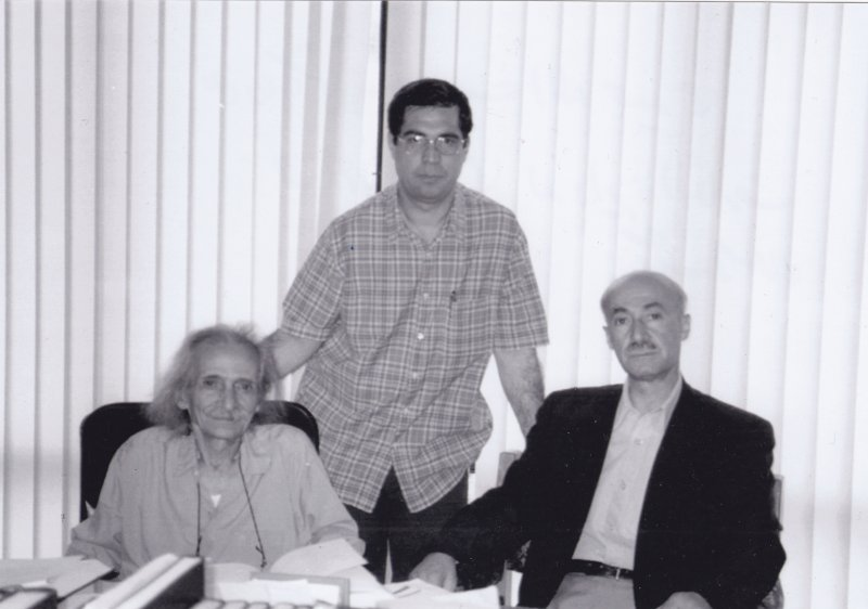 علی دهباشی ، عنایت¬الله مجیدی و احمد منزوی در دایره¬العمارف بزرگ اسلامی ـ دهه 1380