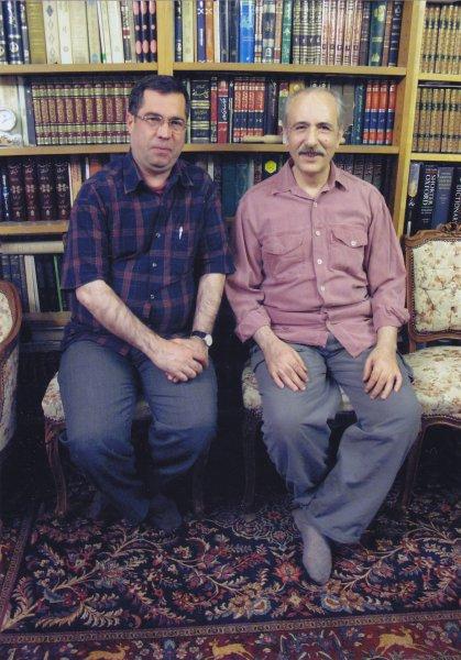با بهاءالدین خرمشاهی ـ نوروز 89 عکس ازپیروز سیار