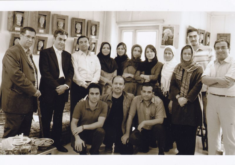 ردیبهشت 1390 در کارگاه مهرداد اسکویی با دانشجویان