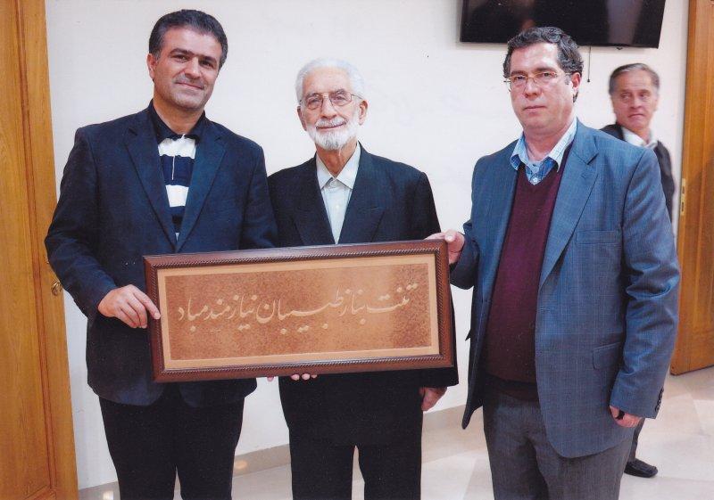 بهمن 91 علی دهباشی، حسینعلی متین رضا و مسعود غلامپور