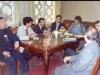 دیدار با نویسندگان تاجیکستان در محل « اتفاق نویسندگان » آبان 1370 با عسگر حکیم، ظاهر طنین، عبید رجب ، بهمن پور و گل نظر ، خسرو رضوی و احمد کریمی حکاک