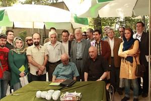 حسن انوری به همراه محمدرضا شفیعی کدکنی ـ عکس از مجتبی سالک