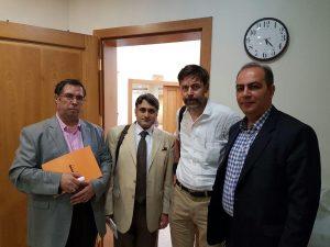 دکتر فیروزآبادی، پتر اشتام، دکتر ارفع علوی و علی دهباشی